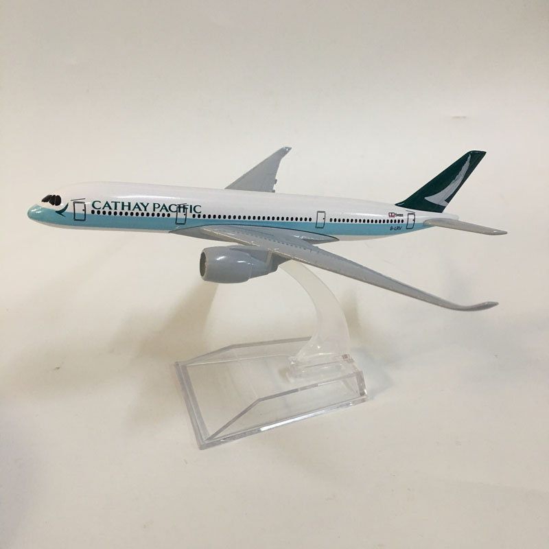 16cm Plane Model Airplane Model Cathay Pacific A350 Planes Aircraft Model Toy 1:400 Diecast Metal Airbus A350 Airplanes Toys