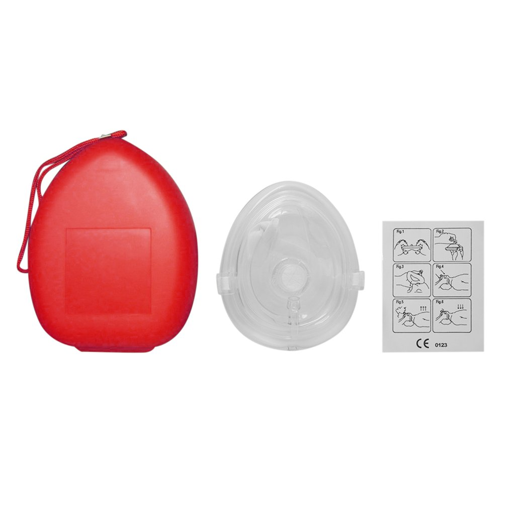 CPR Mask Professional First Aid CPR Breathing Mask Protect Rescuers Artificial Respiration Reuseable With One-way Valve Tools