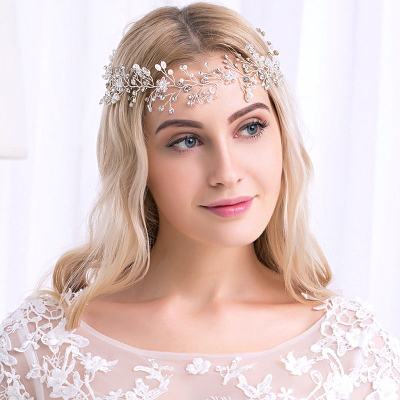 Crystal Bridal Women Headwear Handmade Wedding Hairbands Hair Accessoires Rhinestone Twig Style TS160