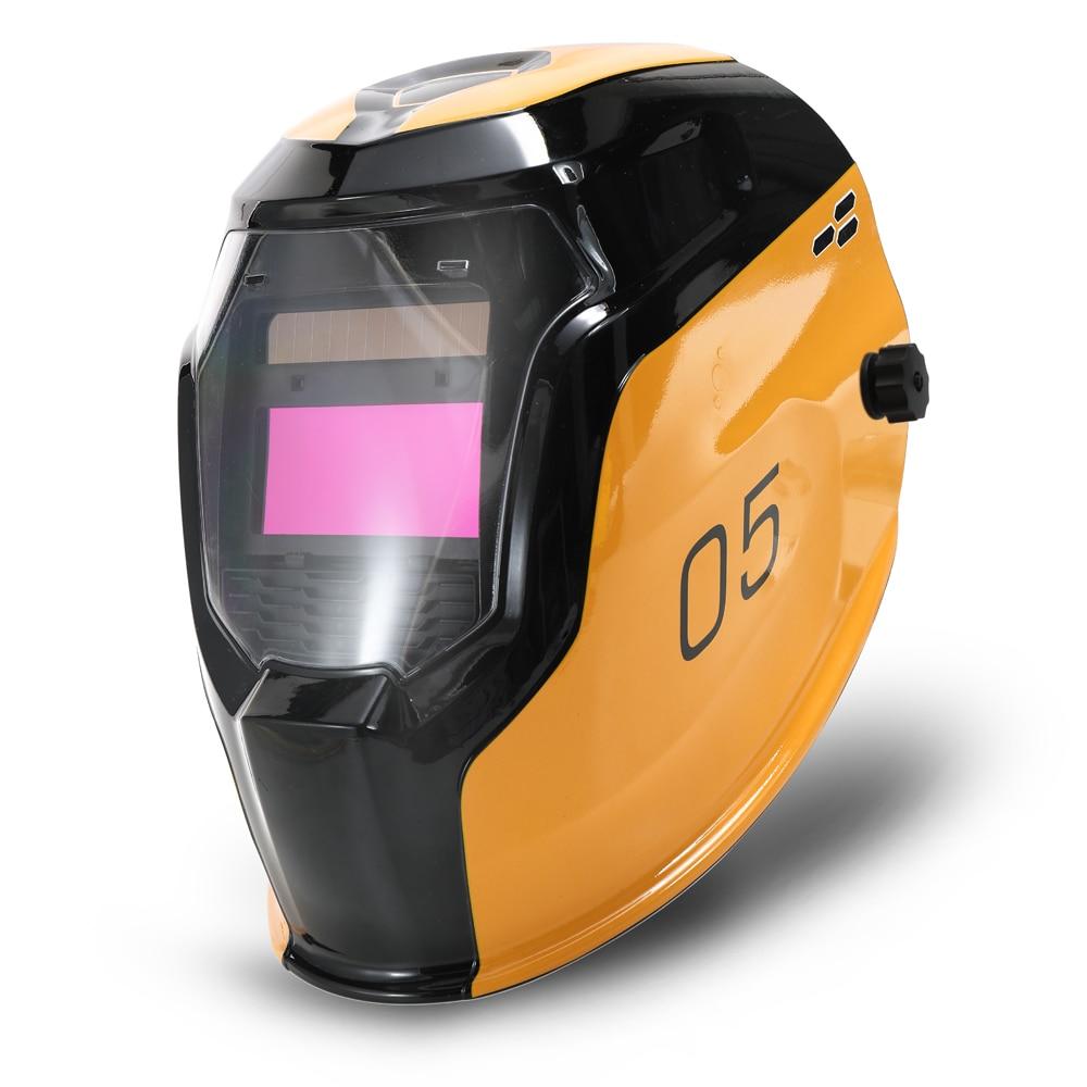 Capacete de solda em mudança automático da máscara da soldadura da luz da energia solar com 2 sensores do arco dos pces