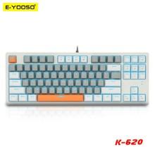 E-YOOSO K620 USB Mechanical Gaming Keyboard Blue Switch 87 Key Backlit Gamer for Computer laptop PC