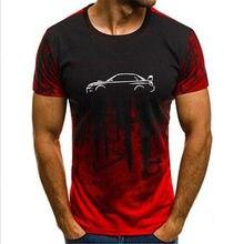 Alta qualidade S-4XL premium autotees carro t camisa-para impreza hawkeye wrx gradiente carro tshirt