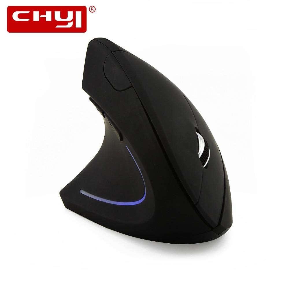 CHYI левая рука эргономичная Вертикальная Беспроводной Мышь компьютер Игровые Мыши 1600 Точек на дюйм USB оптическая Мышь для портативных ПК