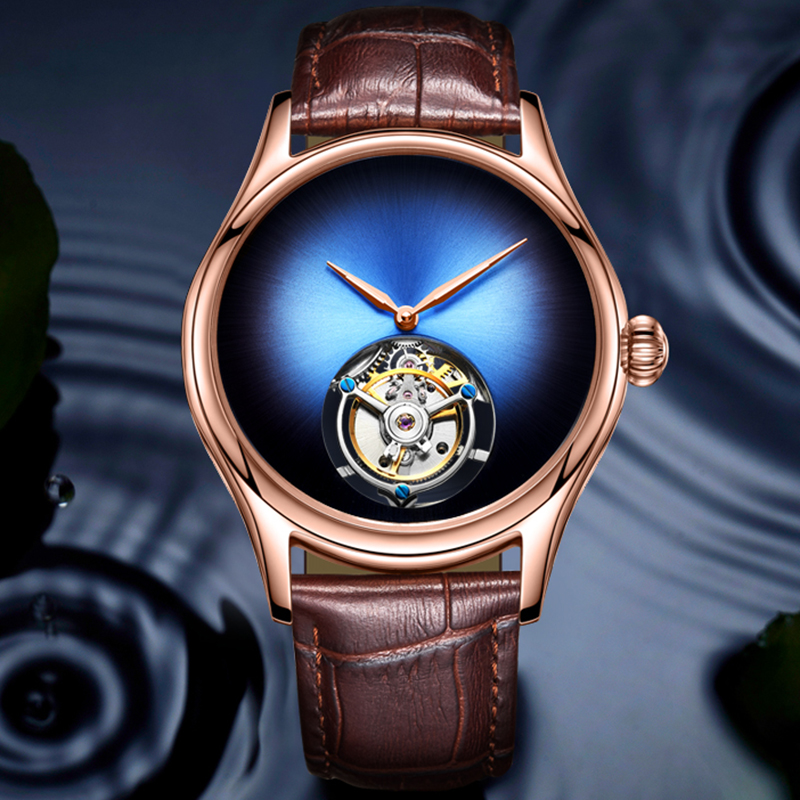 GUANQIN 2019 Tourbillon Men watches top brand luxury 100% real Tourbillon clock men Sapphire mechanical watch Relogio Masculino 1