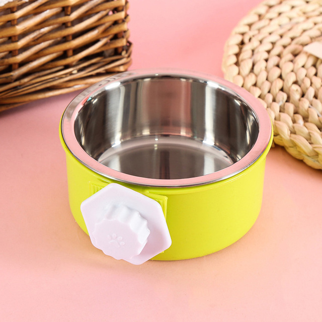 Cage Bowl Hanging Dogs Dog Feeder Pet Feeding Bowl 3 Colors Separable Hamsters Puppy Water Food 3