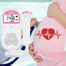Monitor do bebê doppler fetal ultra-som feto doppler detector doméstico portátil sonar doppler para grávida 2.5 mhz sem radiação portable ultrasound fetal sonar