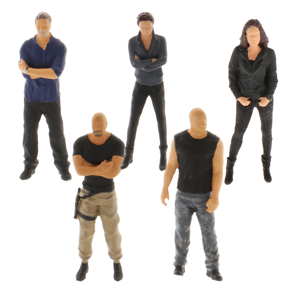 1//64 S Scale Street Greeting Scenes Classic People Plastic Character Toys Table