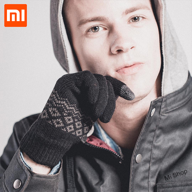 lowest price Xiaomi FO Finger Touch Screen Gloves for Women Men Winter Warm Velvet Gloves For Screen Phone Tablet Birthday Christmas Gift