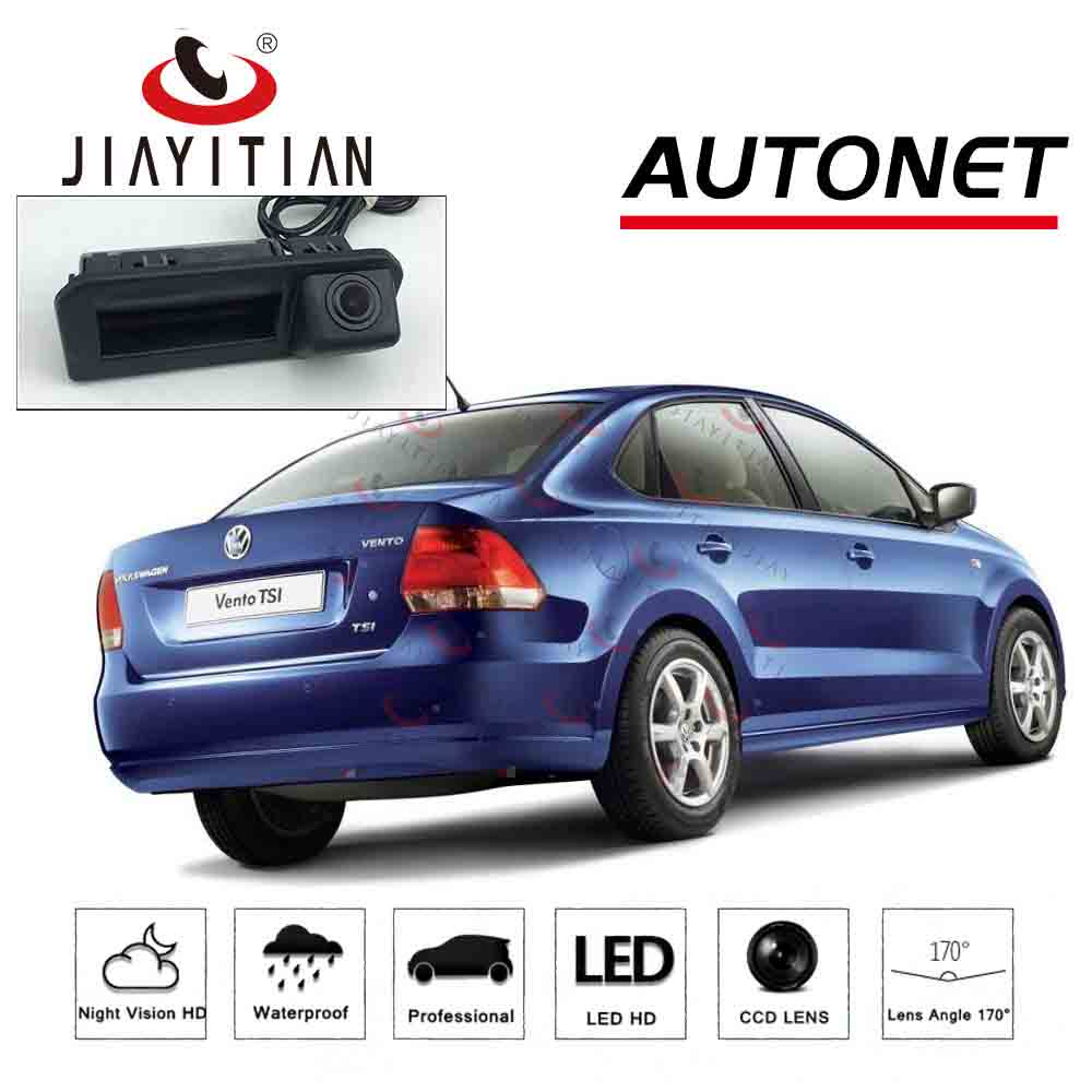 JIAYITIAN Car Trunk Handle camera For VW Polo/vw Vento Sedan 2016 facelift 2017 2018 Rear View Reversing Parking backup Camera