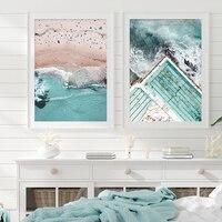 Impresión de playa para OCéANO AZUL, escenario de Surf bohemio, lienzo, arte de pared, impresiones, imágenes, póster, decoración para el hogar y la sala de estar