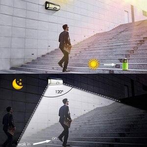 Image 3 - LED de luz de la noche con Sensor de movimiento Solar Powered noche lámpara impermeable al aire libre del Jardín camino calle lámpara de pared luminaria luz nocturna