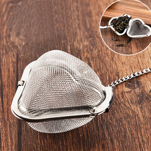 Multifunctional Tea Strainer Mesh Diffuser Accessories Kitchen Tool Drinkware Home Filter Stainless Steel Reusable Heart-Shaped(China)