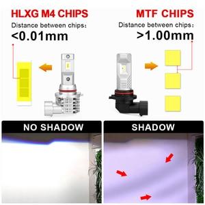 Image 2 - HLXG with Korea CSP chips H7 LED Bulb H4 Car Headlight Kit H11 H8 H9 Fog Lamp mini Headlamp Light 12V 9005 HB3 9006 HB4 LED H7