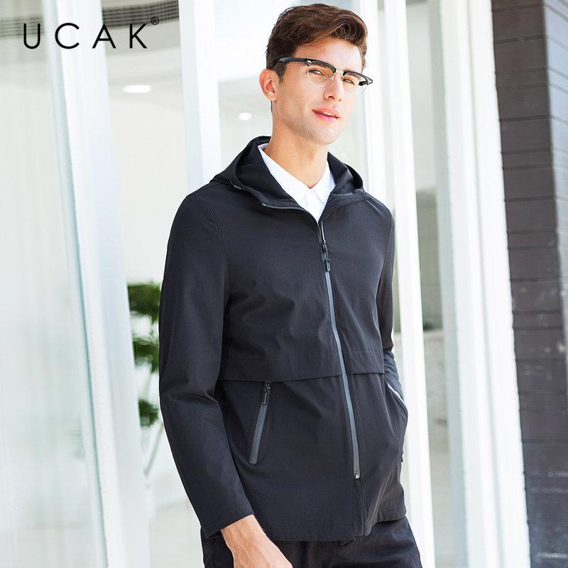 UCAK Brand Jacket Men Business Casual Hooded Coat Men Clothes 2019 New Arrival Autumn Winter Mnes Jackets And Coats Pocket U8008