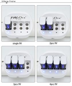 "Image 4 - פאלו 4 חריצים 9V סוללה מטען מכירה לוהטת חכם אינטליגנטי נטענת מהיר מטען עבור 6F22 9V ליתיום סוללה האיחוד האירופי /ארה""ב Plug"