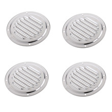 4pcs 316 Grade Stainless Steel Round Louvered Air Vent Fits Marine Boat RV Accessories Silver