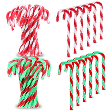 50Pcs 12cm Christmas candy cane twisted plastic candy Christmas tree decoration Christmas tree ornaments New Year gifts Navidad