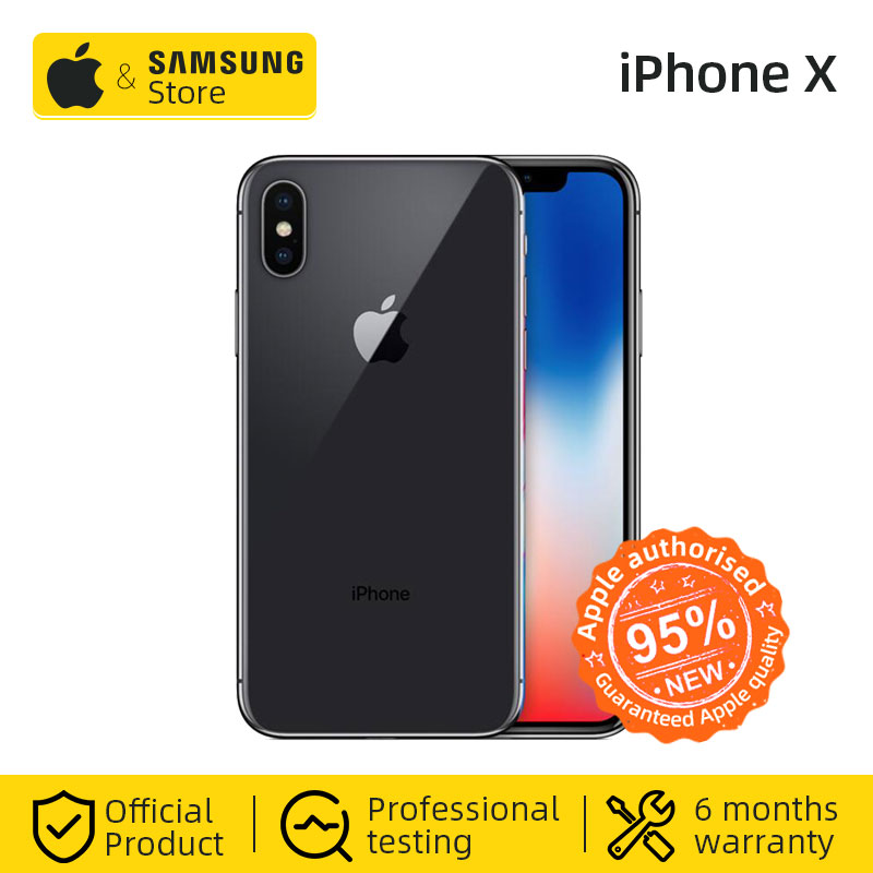 Original Unlocke Apple IPhone X Face ID 64GB ROM Hexa Core IOS A11 5.8 Inch 12MP Dual Back Camera 4G LTE NFC (Used 95% New)