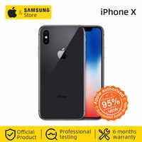 Original desbloqueado Apple iPhone X Face ID 64GB ROM Hexa Core iOS A11 5,8 pulgadas 12MP Dual Cámara 4G LTE NFC (utilizado 95% nuevo)