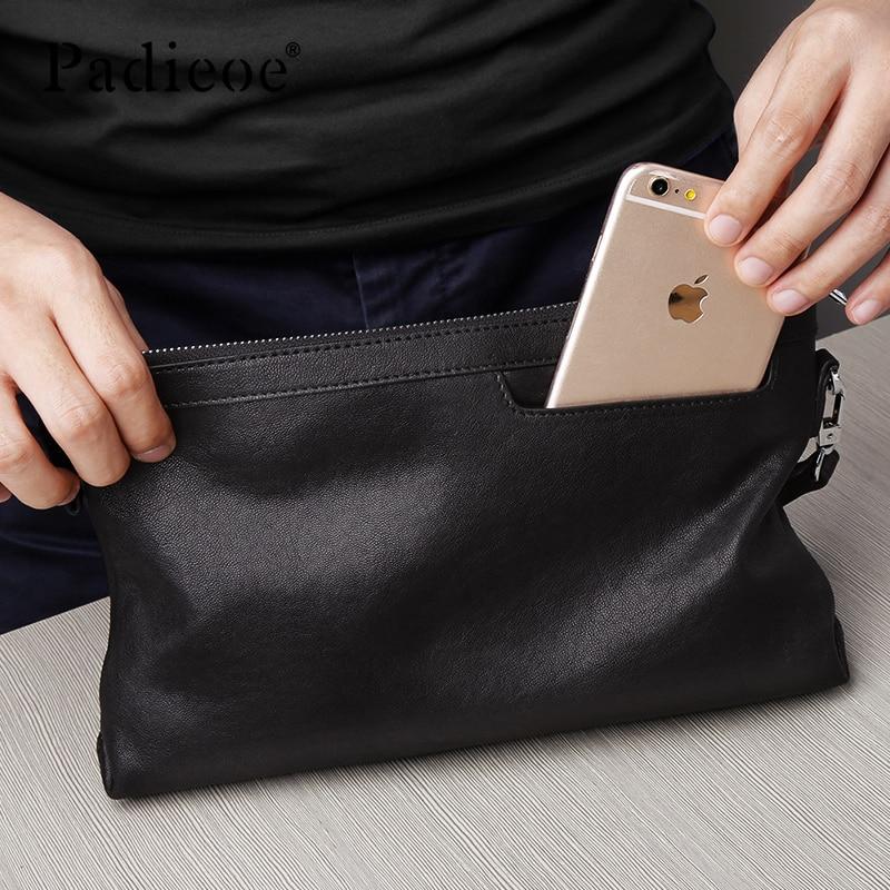 Padieoe men wallets purses luxury money bag clutch fashion Simple - 3