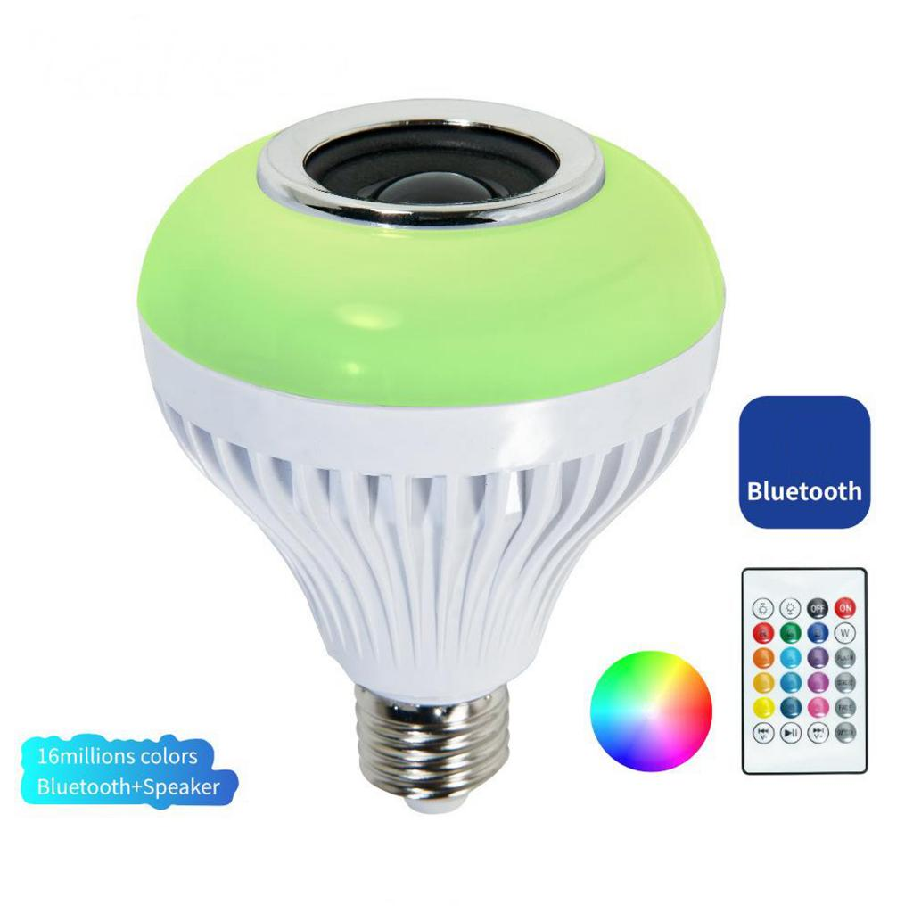 5-7W Wireless Bluetooth Speaker Lamp LED RGB Music Playing Bulb Light E27 Dimmable, 6500K Cool White