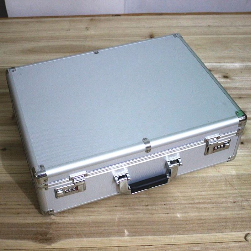 Case-Tool Meter Pre-Cut-Foam Aluminum File-Case Strong-Box with 47--35--14cm High-Grade