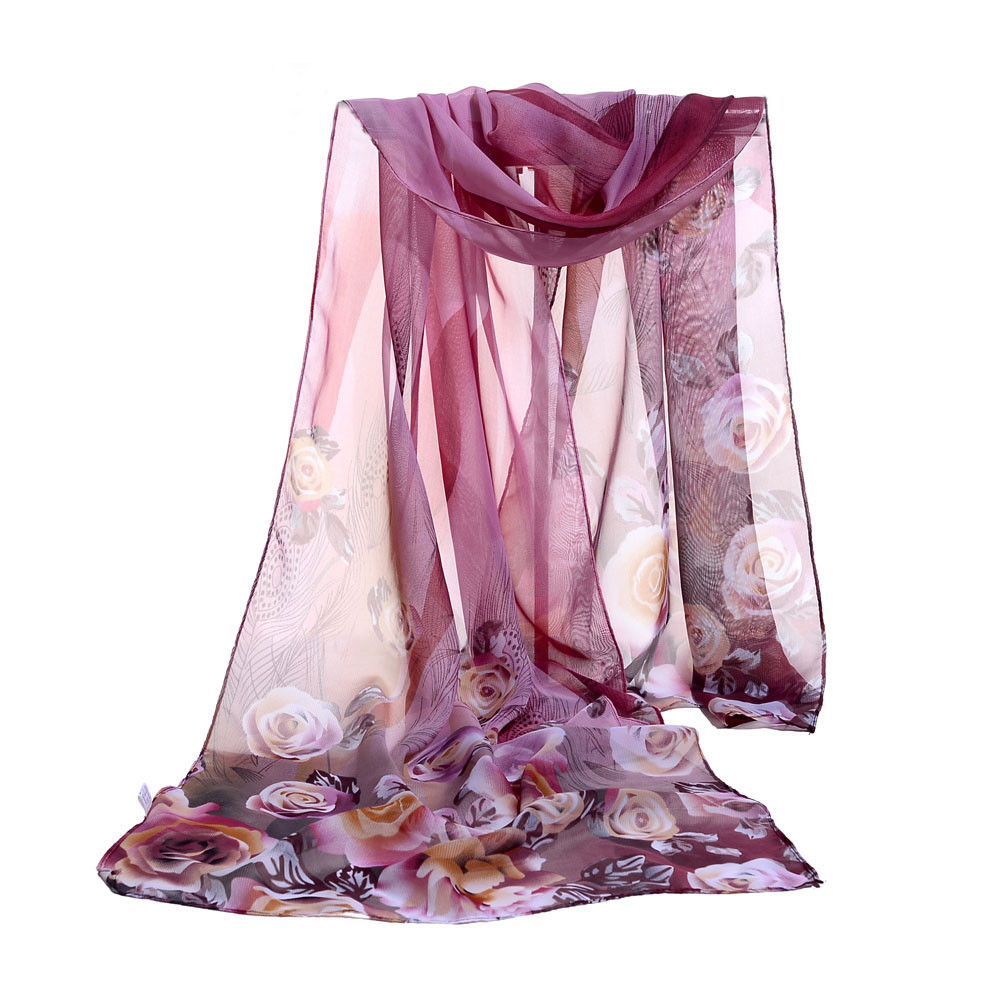 2020 New Autumn Winter Fashion Women Chiffon Soft Wrap Scarf Ladies Shawl Scarf Scarves Printed Chiffon Scarves Shawl  #927