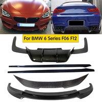 Carbon Fiber Front Bumper Lip Rear Bumper Diffuser Side Skirts Spoiler Fits For BMW M6 F06 F12 F13 640i 650i 2013 2018