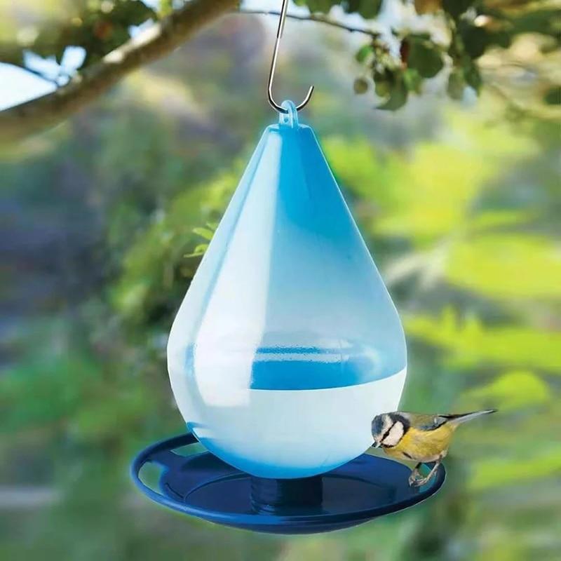 Alimentador de pássaro pendurado água quintal decoração ao ar livre pássaro bebedor distribuidor ferramentas automáticas recipiente brinquedos suprimentos para animais estimação