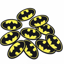 10 шт. Бэтмен патч для одежды наклейки одежда сумки обувь значки Parches смайлированный Утюг на пришивные одежды аксессуары