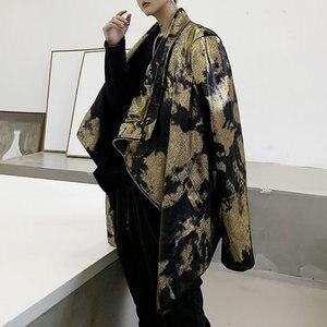 Image 3 - XITAO тренд бронзового цвета Блеск для губ куртка Для женщин Нерегулярные сценический Костюм Уличная плюс Размеры пальто Для женщин личности свободные топы ZLL4599