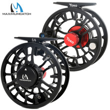 Maximumcatch High Grade TORO Fly Reel 3/4/5/6/7/8WT 6061-T6 Aluminum Green Color Right Left-Handed Fly Fishing Reel angler dream 3 5wt fly fishing combo 24sk carbon fiber fly rod and 3 4 5 6wt fly reel floating fishing line backing leader