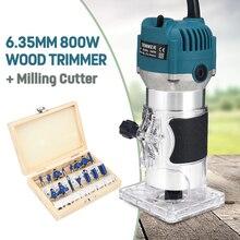 800 Вт 30000 об/мин Электрический ручной триммер по дереву 6,35 мм ламинатор деревообрабатывающий набор инструментов для деревообработки пальмовых кромок фрезерный станок для обрезки столярных работ