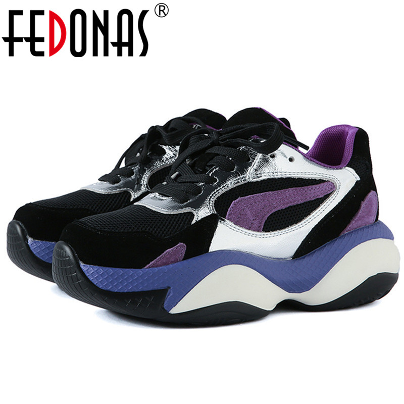FEDONAS Mixed Colors Genuine Leather Women Fashion Flats Spring Autumn Breathable Mesh Women Shallow Sneakers Casual Shoes Woman