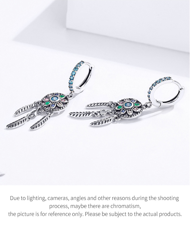 H090719460dc04f97b037a25c7c7fdf30q - Dream Catcher Hanging Drop Earrings