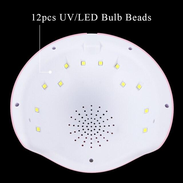 36W Professional USB Nail Dryer UV LED Lamp Smart Sunlight Curing All Gel Polish Non-harmful Fast Dry Nail Art Machine BESTAR6
