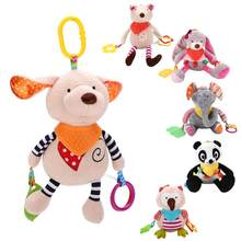 Newborn Infant Plush Toy Cute Animal Rattle Baby Bed Stroller Hanging Doll Ring Bell Mobiles Crib Educational Toys Kids Gift(China)