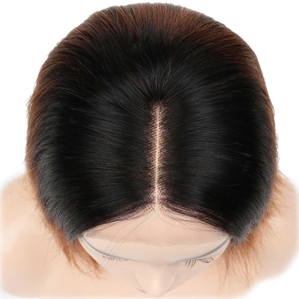 Alibaby شعر طبيعي مفرود الباروكات أومبير قصيرة بوب 1B 30 براون إغلاق شعر مستعار 10-14 بوصة 4x4 الدانتيل إغلاق شعر مستعار بيكسي قطع شعر ريمي