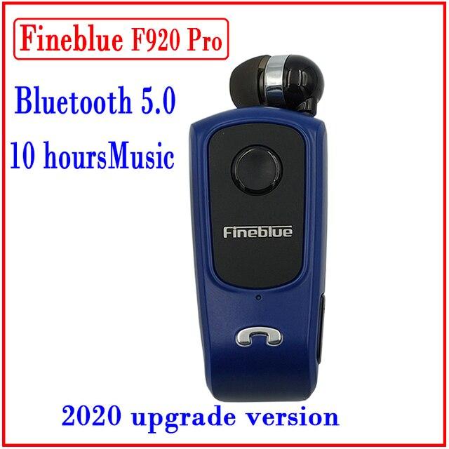 FINEBLUE F920 Mini Không Dây Auriculares Lái Xe Bluetooth Tai Nghe Cuộc Gọi Nhắc Nhở Rung Mặc Kẹp Thể Thao Chạy Bộ Tai Nghe Chụp Tai