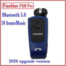 FineBlue F920 מיני אלחוטי Auriculares נהג Bluetooth אוזניות שיחות להזכיר רטט ללבוש קליפ ספורט ריצת אוזניות