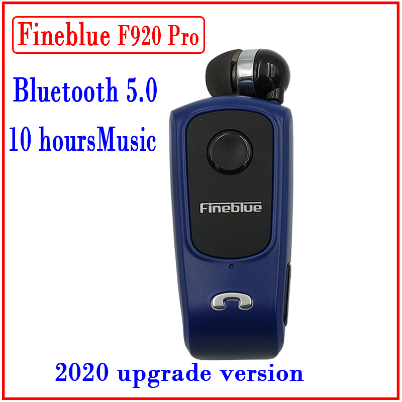 Fineblue F920 Pro Mini Wireless Retractable Portable Bluetooth Headset Calls Remind Vibration Wear Clip Sports Running Earphone