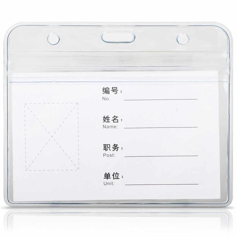 Deli 5758 resistente al agua/tarjeta de personal Horizontal titular de la insignia nombre etiqueta id carrete de cordón con insignia para id Badge id badge Holder 10 Uds