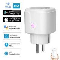 Smart Plug WiFi Socket EU 16A Power Monitor funzione di temporizzazione Tuya SmartLife APP Control lavora con Alexa Google Assistant 100-240V