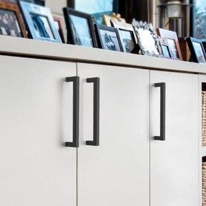 Image 3 - Probrico Matte Black Cabinet knobs and handles Rose gold Cupboard Wardrobe Drawer Closet Pulls Minimalist Furniture Handle Pulls