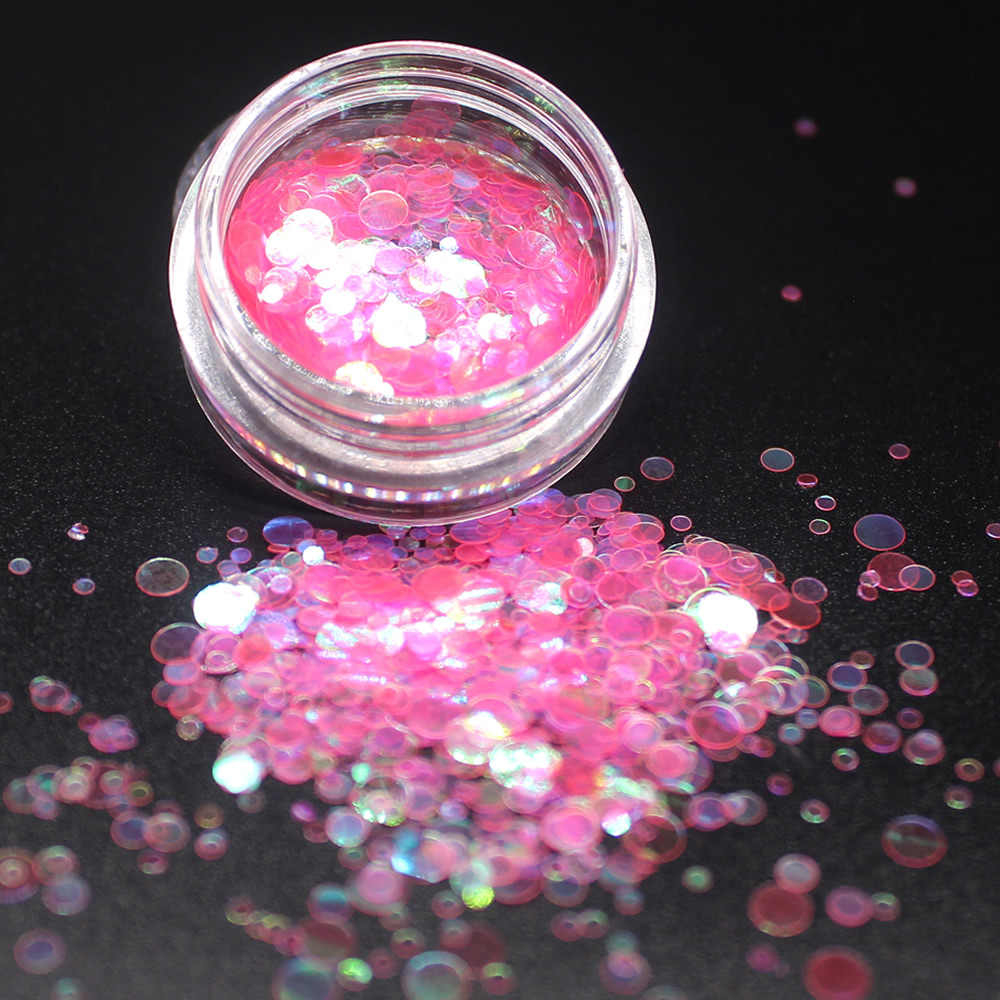 1Pcs Kleurrijke Glanzende Ronde Ultradunne Pailletten 12 Kleur Nagel Steen Ab Kleur Strass Kralen Manicure Nagels Decoraties Kristallen
