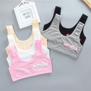 Teen bra girl vest Cotton Spandex Big Girl's Sport 7-14 Years Adolescente Kids Underwear Letter Racerback Training 1 piece