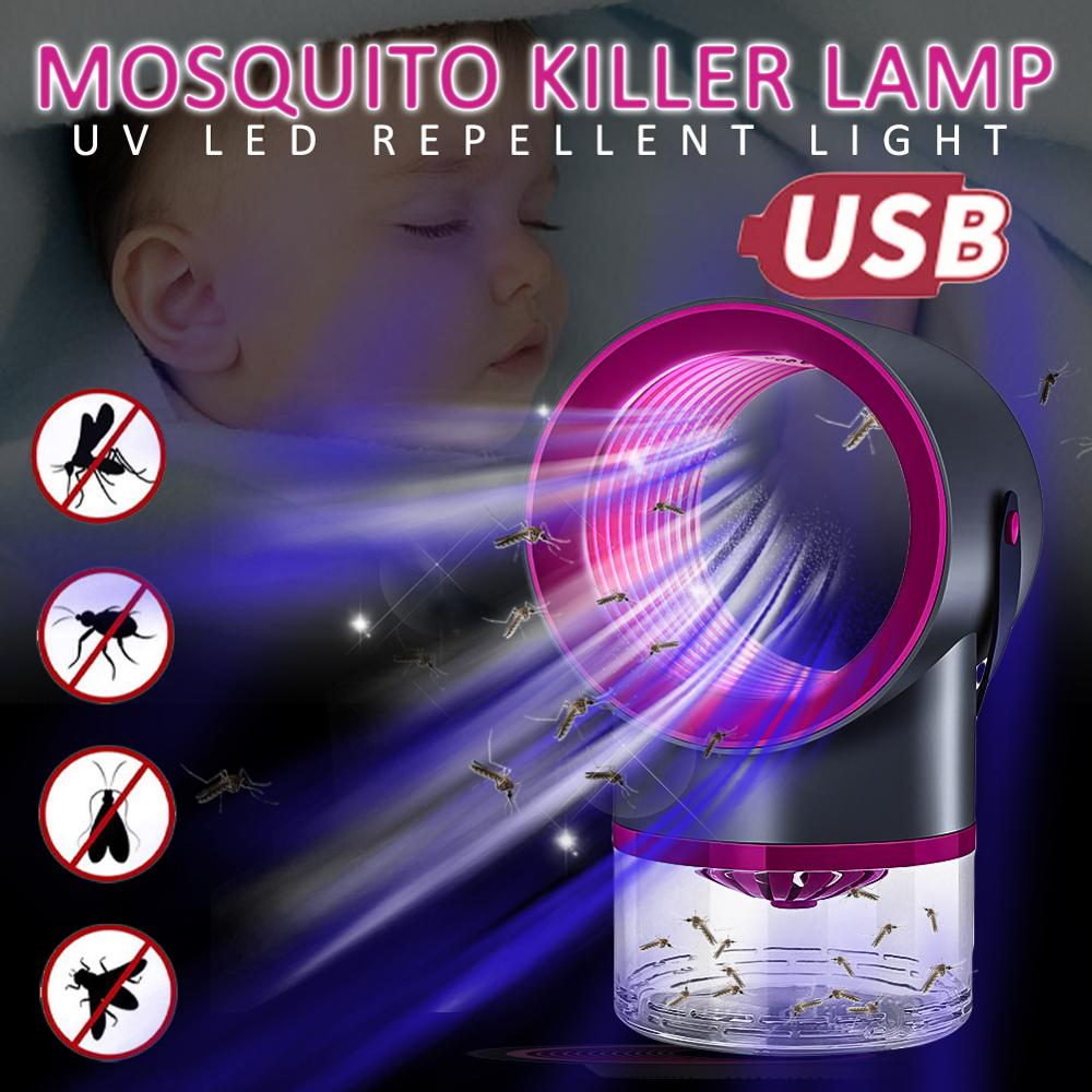 5W USB Powered Electric Anti Mosquito Killer Lamp UV Night Light Photocatalyst Insect Trap Light Pest Control Repellent For Home