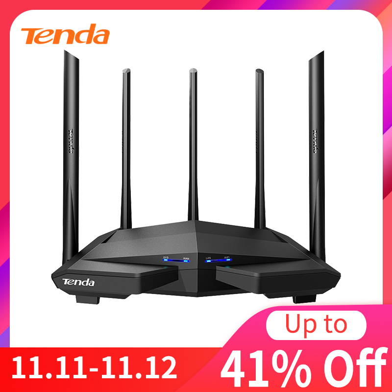 Tenda AC1200 AC11 Router Gigabit 2 4G 5 0GHz Dual-Band 1167Mbps Wireless Router Wifi Repeater With 5 High Gain Antennas Wider