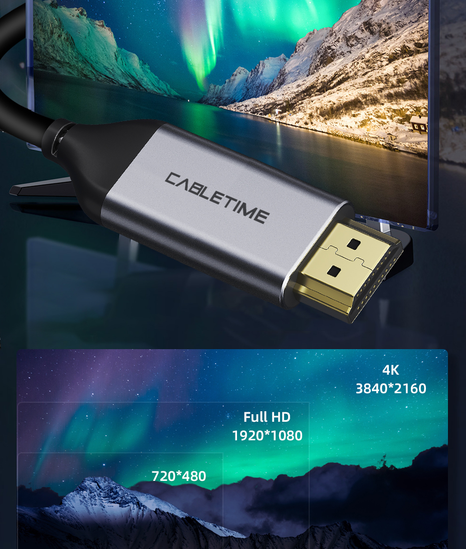 USB C to HDMI Cable 4k HDMI 4K 60Hz Type C Thunderbolt 3