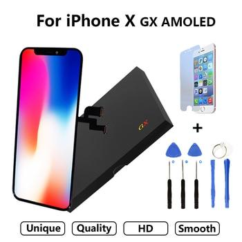 Calidad AAA AMOLED GX sin píxeles muertos para IPhone X Pantalla LCD Pantalla táctil 5,8 pulgadas digitalizador montaje reemplazo Pantalla LCD